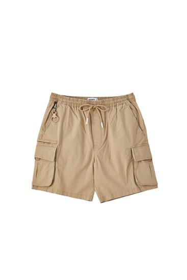 Ripstop cargo Bermuda shorts