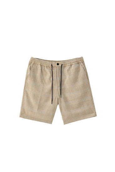 Tailored Bermuda shorts with drawstring detail
