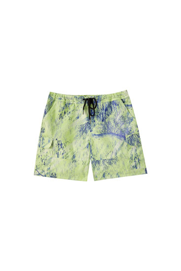 Realtree printed Bermuda shorts