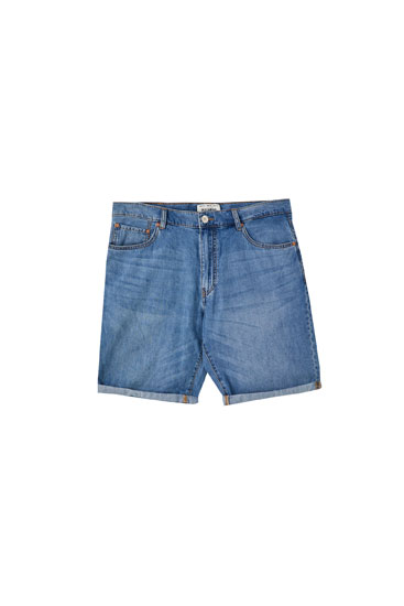 Denim Bermuda shorts in lightweight fabric