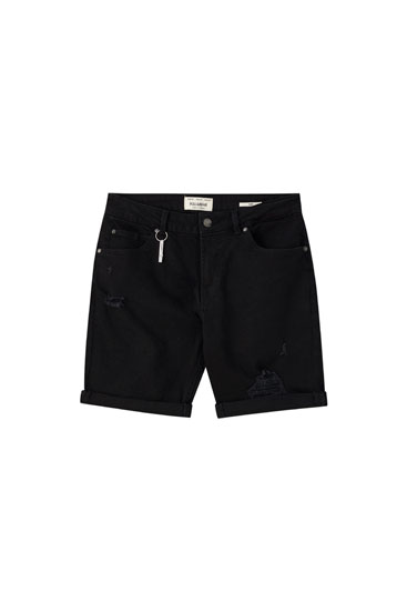 Bermuda slim fit rotos