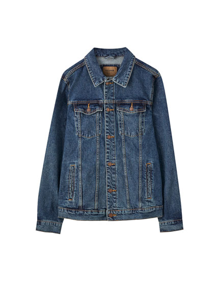 Blue comfort fit denim jacket