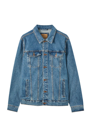 Greenish blue denim jacket