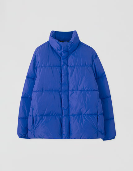 Basic coloured puffer jacket