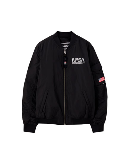 Black NASA bomber jacket