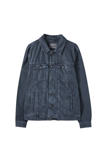 Denim jacket with front pockets