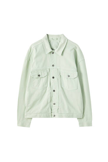 Trucker jacket with buttons