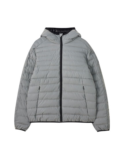 Lightweight reflective puffer jacket