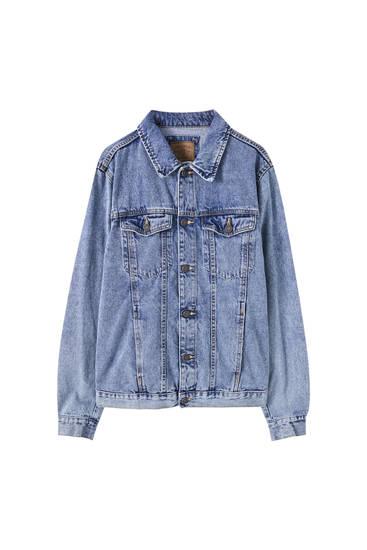 Basic long sleeve denim jacket