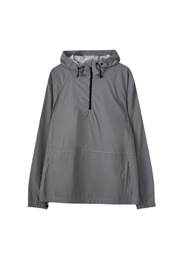 Reflective grey anorak jacket