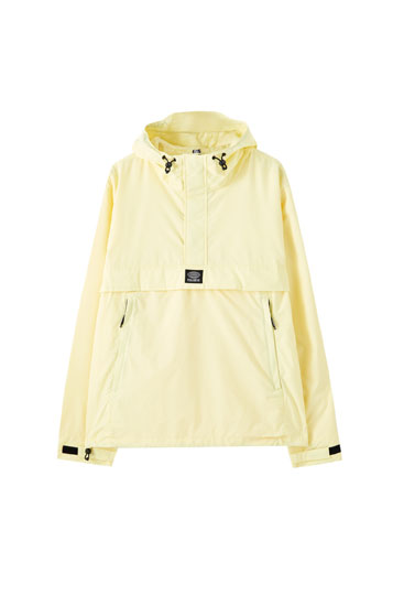 Lightweight anorak jacket with a logo