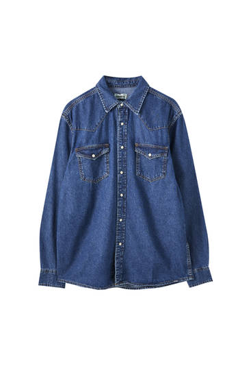 Camicia in jeans stile cowboy