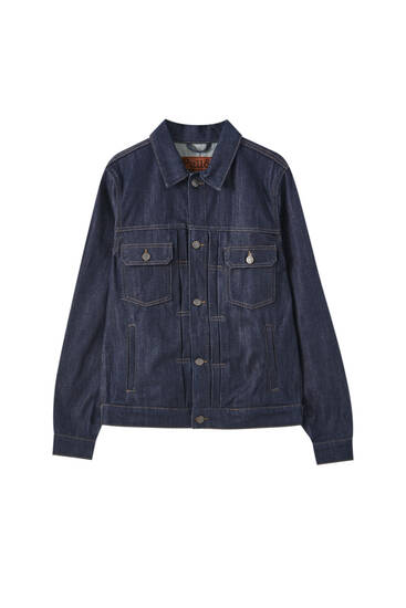 Denim jacket with seam detail