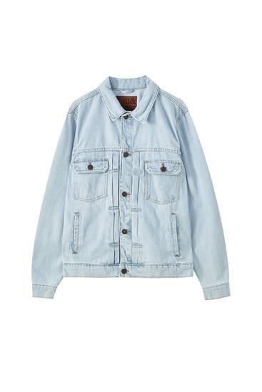 Denim jacket with seam detail