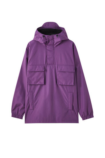Light anorak jacket with double pockets