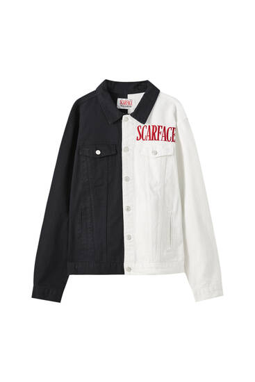 Contrast Scarface denim jacket