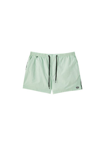 Basic swimming trunks with elastic waistband