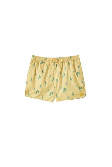 Cactus print swimming trunks