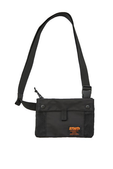 Black STWD logo chest bag