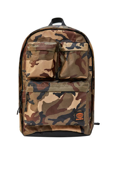 Brown camouflage backpack