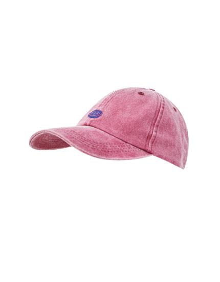 Καπέλο τζόκεϊ με ξεβαμμένη όψη και λογότυπο