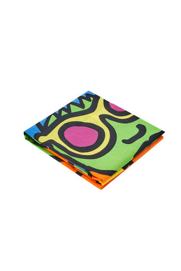 Foulard con stampa Keith Haring
