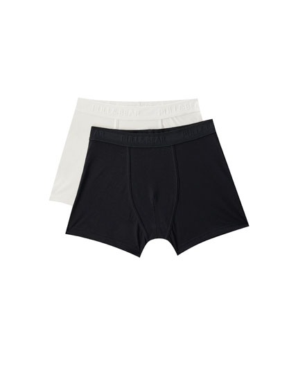 2-pack of plain basic boxers