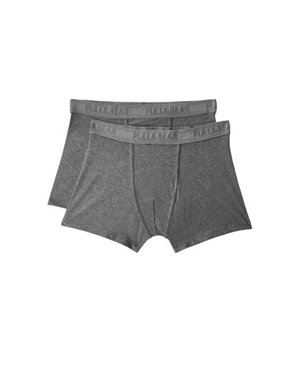 Pack of 2 grey boxers