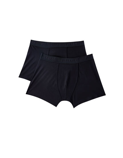 Pack of 2 blue boxers