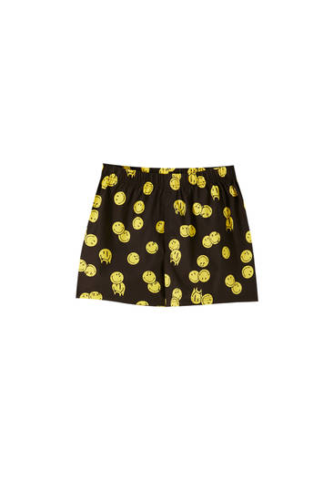 Smiley popeline boxershort