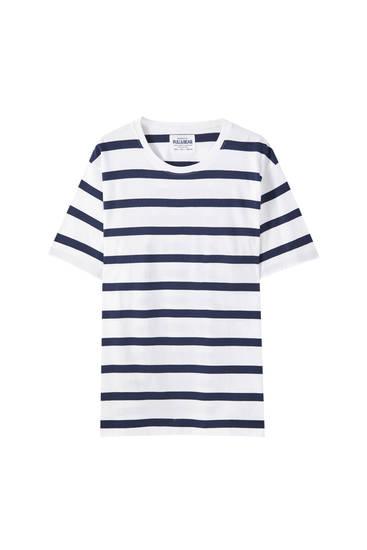 Basic-Shirt mit Streifen und Logo