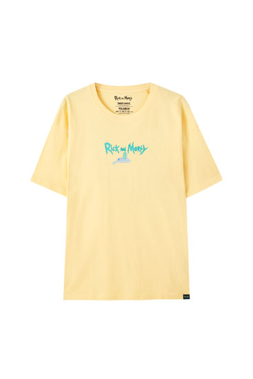 Mustard yellow Rick and Morty T-shirt