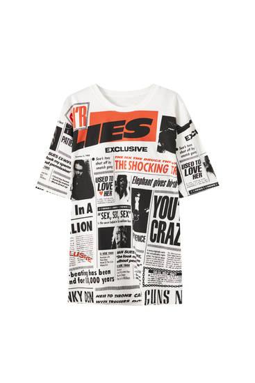 Guns N' Roses news T-shirt