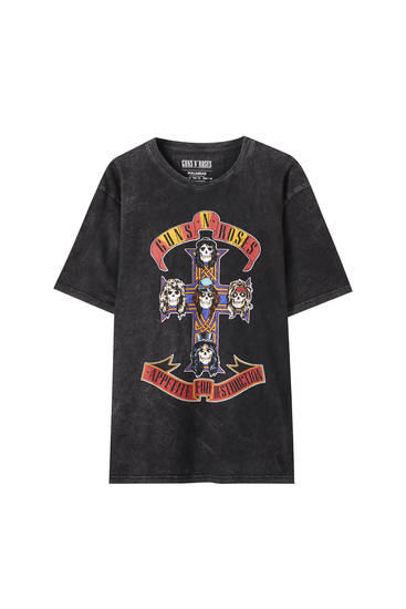 "Guns N' Roses ""Appetite for destruction"" görselli t-shirt"