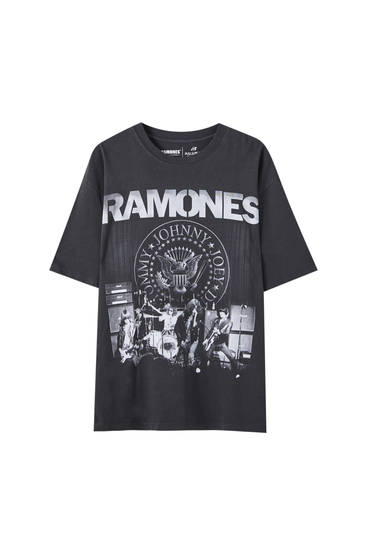Black T-shirt with Ramones print