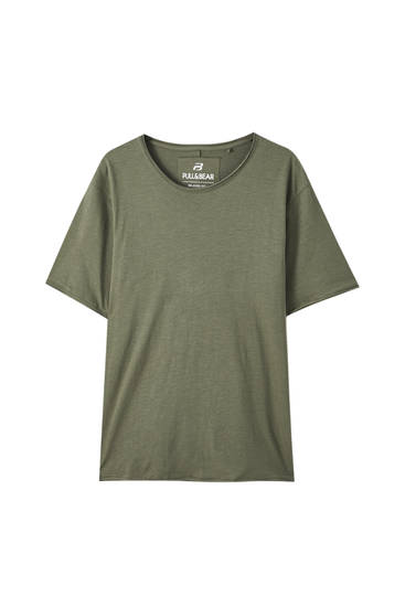 Basic T-shirt in plain colours