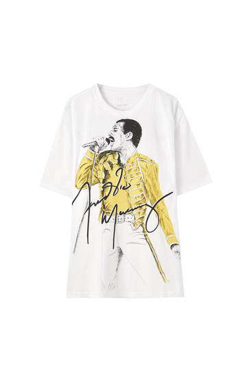 White Freddie Mercury T-shirt