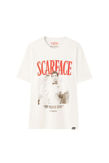 White Scarface T-shirt