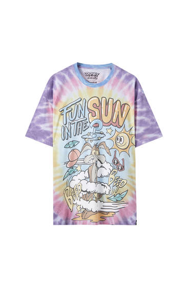 Blue tie-dye Looney Tunes T-shirt