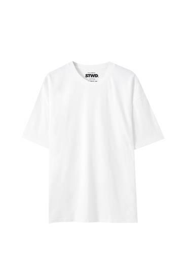 Basic-Oversize-Hemd mit kurzen Ärmeln