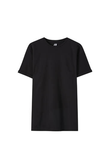 Textured muscle fit T-shirt