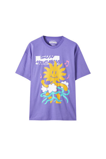 Playera estampado sol