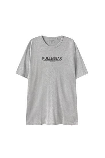 Shirt mit farblich abgesetztem P&B-Logo