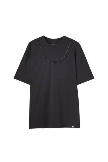 T-shirt oversize chaîne