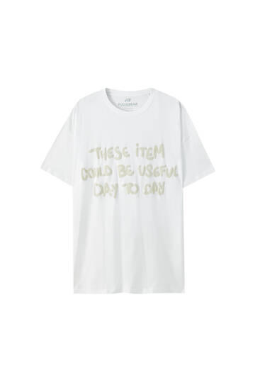 Loose-fit T-shirt with slogan