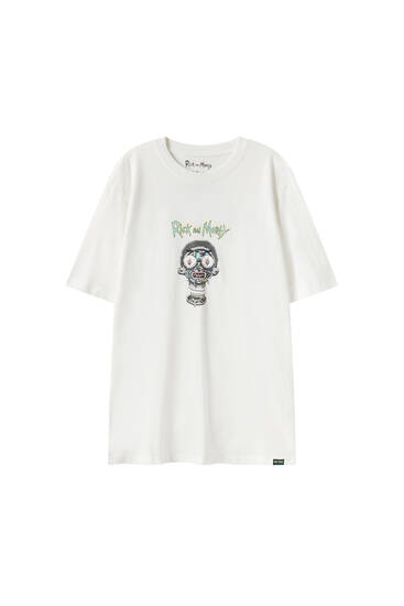 T-shirt Rick et Morty blanc visage