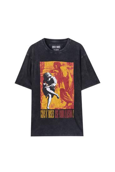 Guns N' Roses Shirt in verwaschenem Schwarz