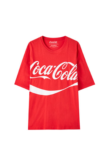 Oversized red Coca-Cola T-shirt