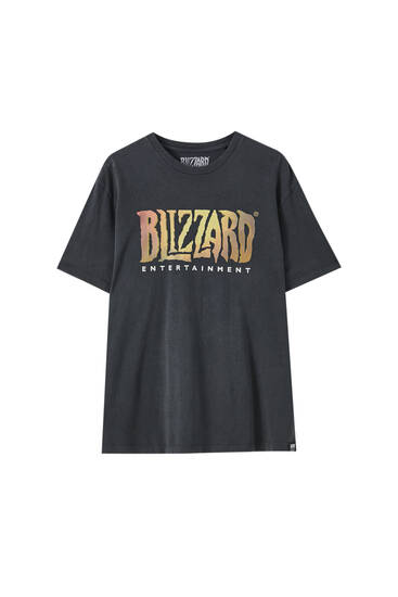 "T-shirt with slogan ""World of Warcraft"""