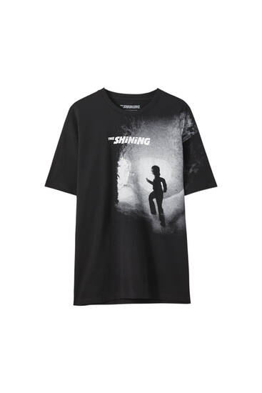 T-shirt noir « Shining »